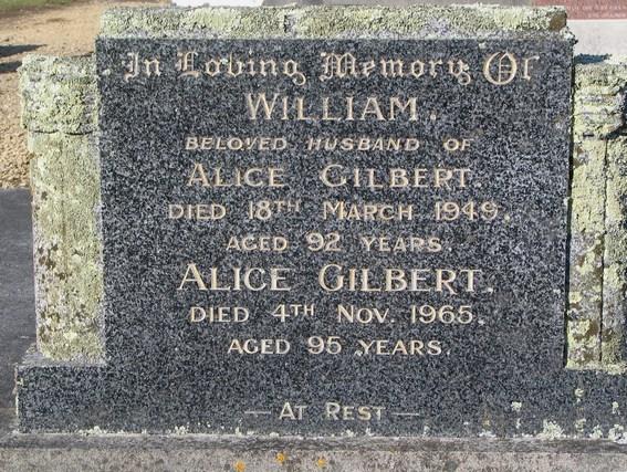 - William_and_Alice_Gilbert_gravestones